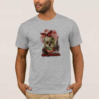 T-shirt La pièce en t des hommes de crâne et de faucon