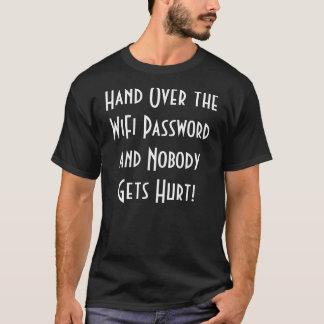 T-shirt La pièce en t des hommes de mot de passe de WiFi