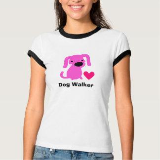 T-shirt La pièce en t du marcheur de chien