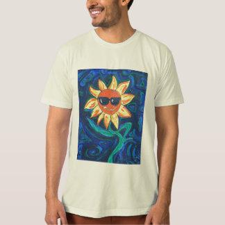 T-shirt La pièce en t organique des hommes - ensoleillée