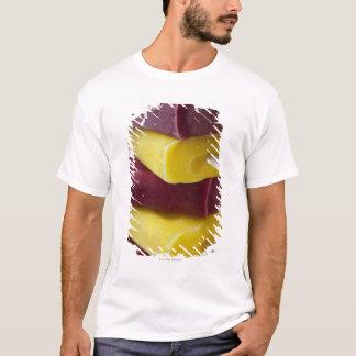 T-shirt La pile de glace congelée saute, crème glacée sur
