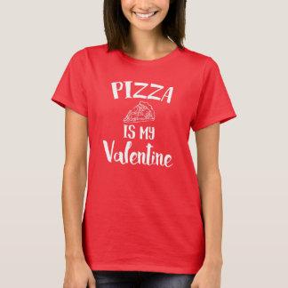 T-shirt La pizza est mon Valentine