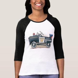 T-shirt La police pédale voiture de cannette de fil de