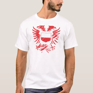 T-shirt La Pologne Grunged