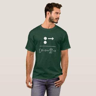 T-shirt La première loi de Newton