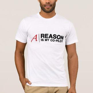 T-shirt La raison est mon co-pilote (pour les chemises