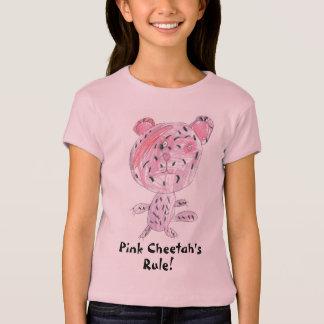 T-shirt La règle du guépard rose !