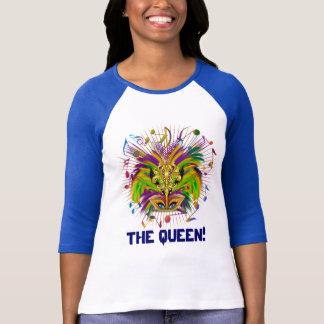 T-shirt La reine de mardi gras toute la vue de lumière de