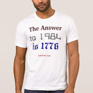 T-shirt La réponse à 1984 est 1776