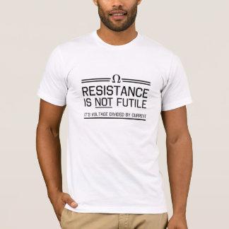 T-shirt La résistance n'est pas futile