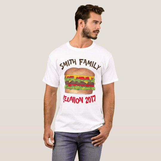 T-shirt La Réunion de pique-nique de famille de barbecue