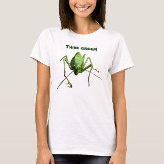 T-shirt La sauterelle pensent le vert