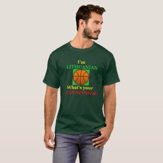 T-shirt La superpuissance lithuanienne de basket-ball de