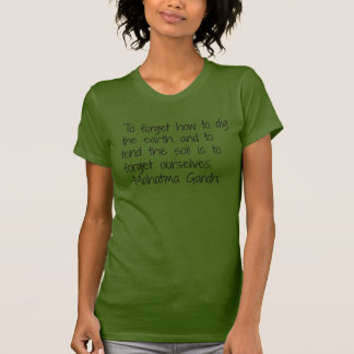 T-shirt La terre - Gandhi