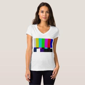 T-shirt La TV barre l'essai de couleur