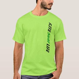 T-shirt La vie de surf de cerf-volant de vert de chaux