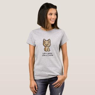 T-shirt La vie est meilleure avec un Chorkie