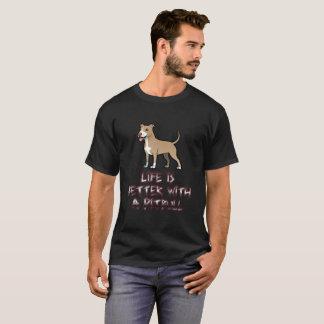 T-shirt La vie est meilleure avec un Pitbull