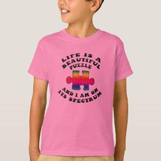 T-shirt La vie est une belle chemise d'autisme de puzzle