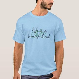 T-shirt La vie est une belle pièce en t de bicyclette de