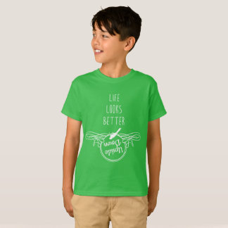 T-shirt La vie regarde mieux à l'envers