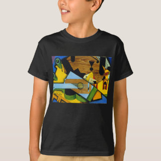 T-shirt La vie toujours avec une guitare par Juan Gris