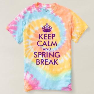 T-shirt La violette pourpre gardent le calme et votre