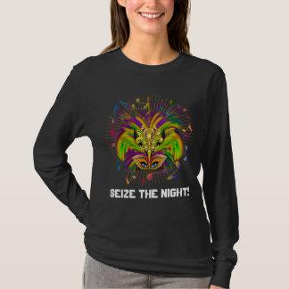 T-shirt La vue foncée de style de la Reine de mardi gras