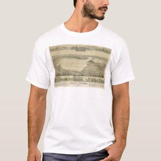 T-shirt Lac clair, carte panoramique de CA (0289A)
