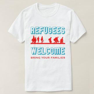 T-shirt L'accueil de réfugiés amènent vos familles