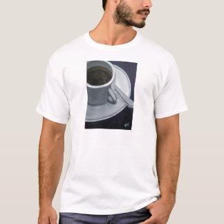 T-shirt L'acrylique du café 5x7 sur le panneau de toile,