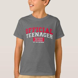 T-shirt L'ADOLESCENT OFFICIEL XIII a laissé l'amusement
