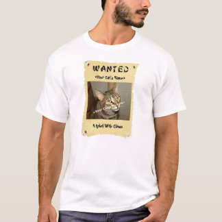 T-shirt L'affiche voulue de l'amoureux des chats