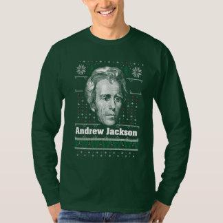 T-shirt laid de chandail de Noël d'Andrew Jackson