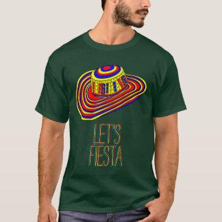 T-shirt Laissez-nous chemise de fiesta avec le sombrero