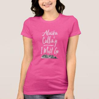 T-shirt L'ALASKA est appelant moi doit aller !  Montagnes