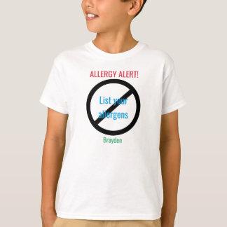 T-shirt L'alerte personnalisée d'allergie alimentaire ne