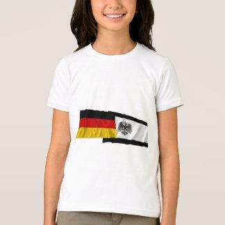 T-shirt L'Allemagne et les drapeaux de ondulation de