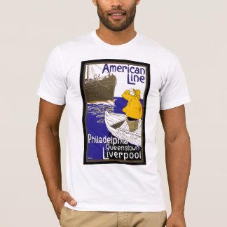 T-shirt L'Américain raye le marin dans le revêtement de