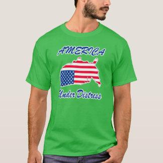 T-shirt L'Amérique sous la chemise de détresse - vert