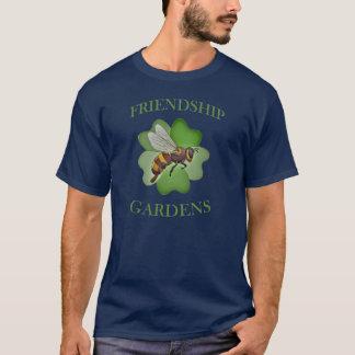 T-shirt L'amitié fait du jardinage bleu de