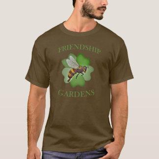 T-shirt L'amitié fait du jardinage logo T-chemise-Brown