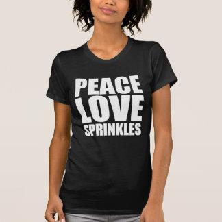 T-shirt L'amour de paix arrose White.png lumineux