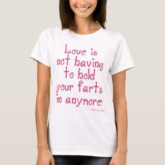 T-shirt L'amour ne doit pas tenir vos pets dedans plus