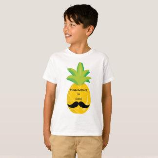 T-shirt L'ananas avec la moustache Homeschool est frais