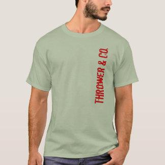 T-shirt Lanceur et pièce en t de logo de Cie.