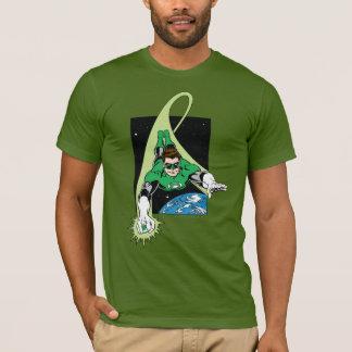 T-shirt Lanterne et terre vertes