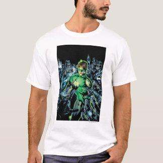 T-shirt Lanterne verte entourée - couleur