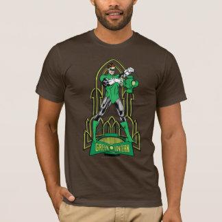 T-shirt Lanterne verte sur l'arrière - plan décoratif