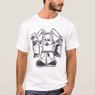 T-shirt lapin de graffiti